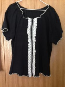 Peasant blouse black