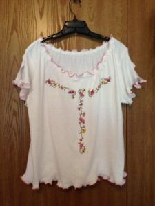 Tshirt to peasant top